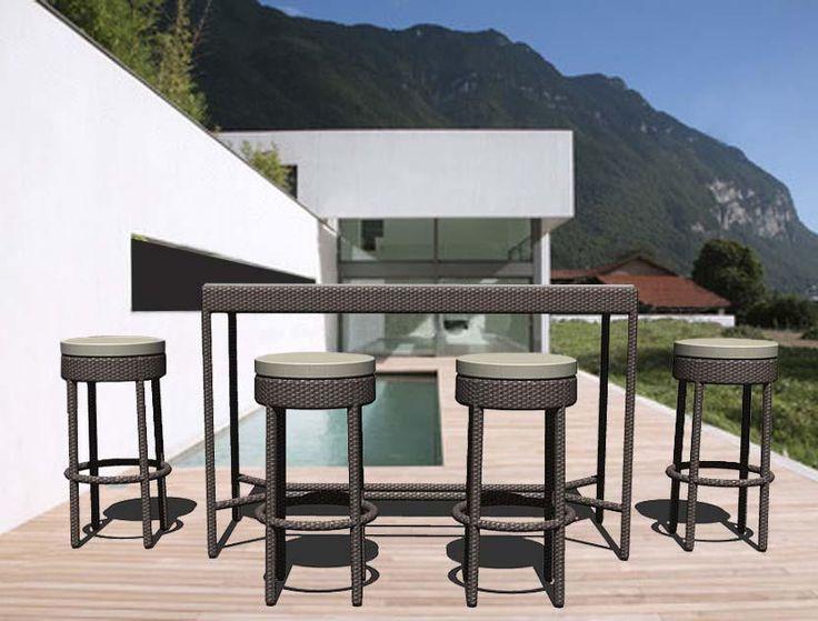 KAWIT Bar Table and KAWIT Bar Stools