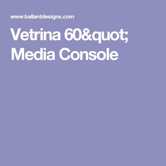 """Vetrina 60"""" Media Console"""