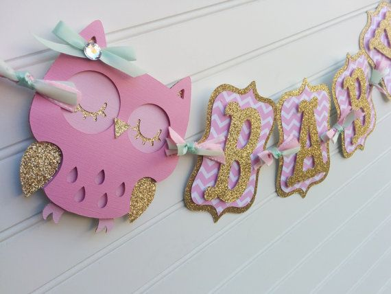 Hey, I found this really awesome Etsy listing at https://www.etsy.com/listing/266897453/owl-baby-shower-banner-its-a-girl-banner