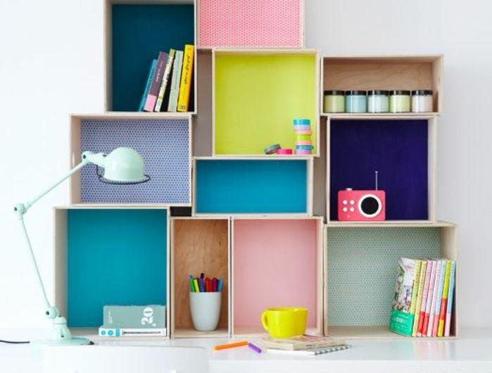 les 25 meilleures id es concernant tag res de caisse en bois sur pinterest meubles de caisse. Black Bedroom Furniture Sets. Home Design Ideas