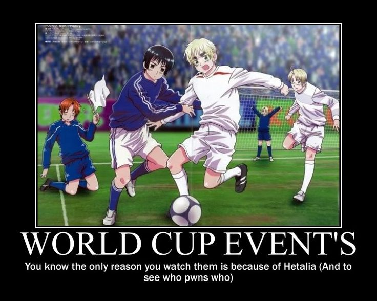 Hetalia world cup. Hahaha, Germany owned all of your favorite countries