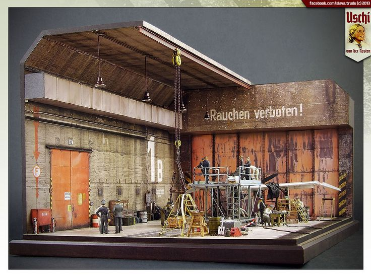 Dioramas And Vignettes Lachs Reimahg Factory 1946 Photo