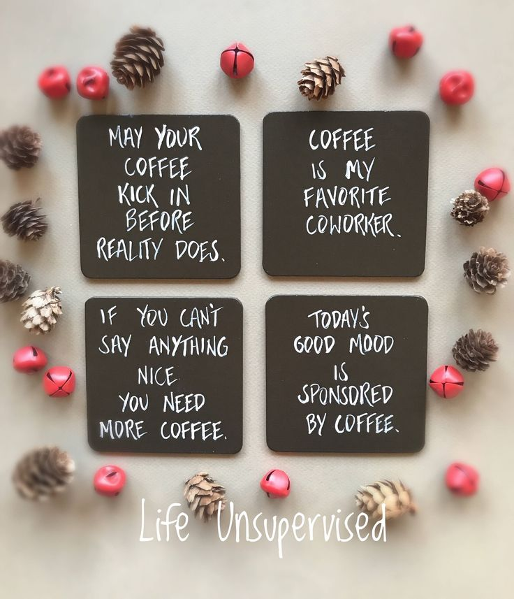 Excited to share the latest addition to my #etsy shop: Coffee Coasters, Coffee Gift, Gifts for Coffee Craver, Funny Coasters, Coasters, Mug Coasters, Coffee Gifts, Set of Four Coffee Coasters