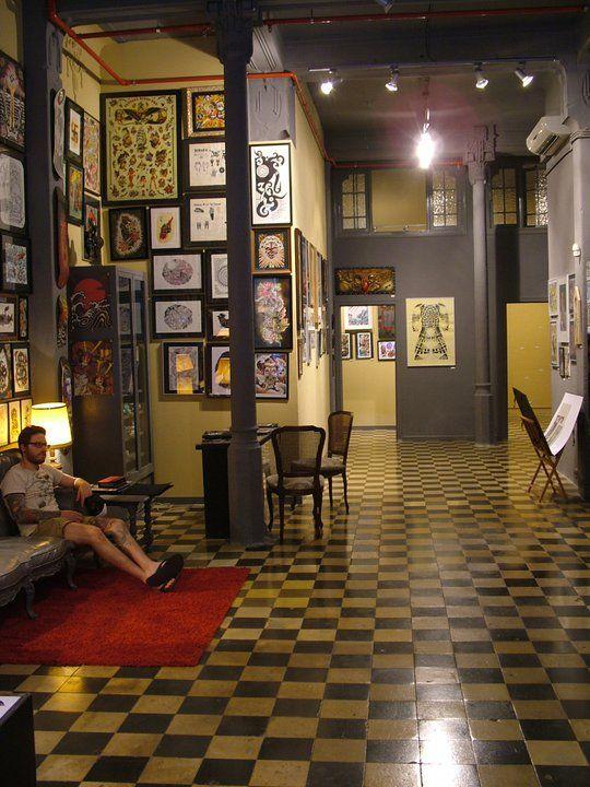 Ideas de #Estudio, Salon, estilo #Vintage color  #Beige,  #Gris,  #Negro, diseñado por MR-ARQUITECTURA TECNICA  #CajonDeIdeas