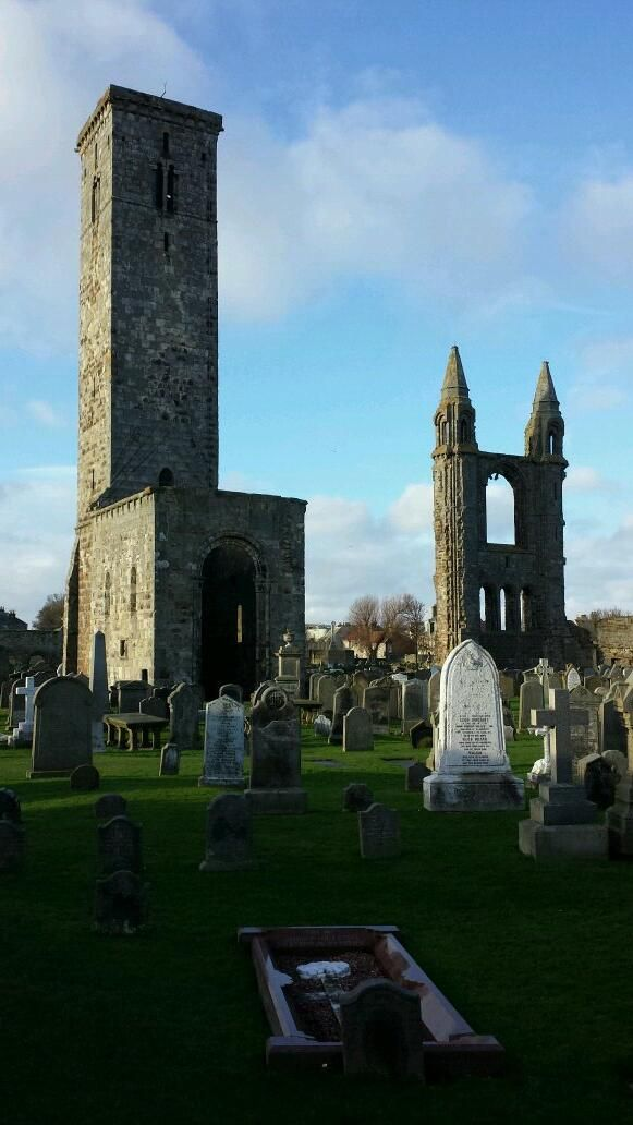 Nice photo of Kenny's visit to St Andrews Cathedral today, via Twitter. #history #Scotland #travel
