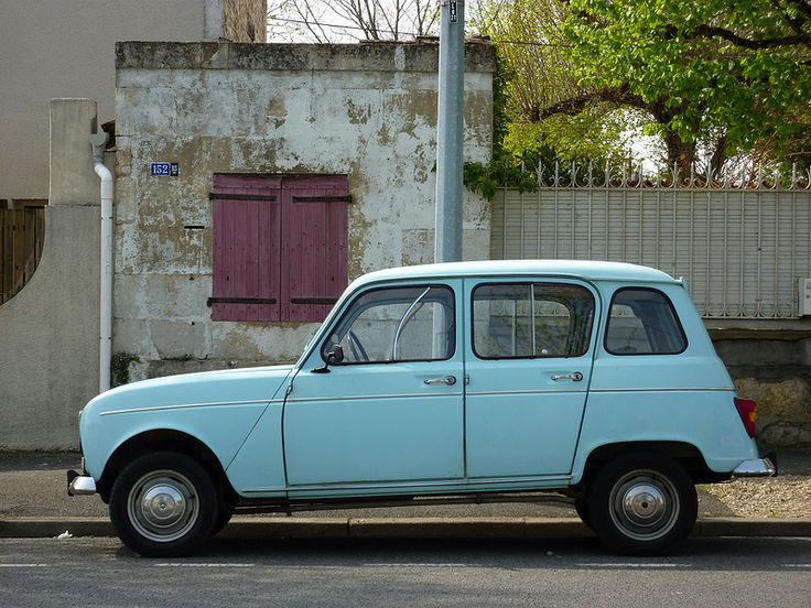 This is exactly the color of my first car, a Renault 4. I drove it until it fell apart