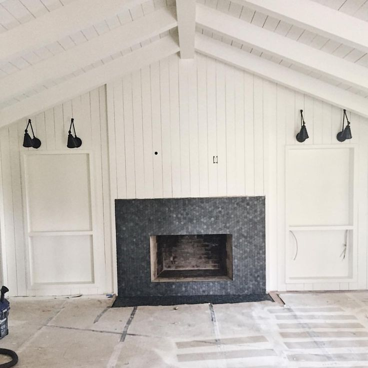 Modern Farmhouse Living Room With Vertical Shiplap Crag