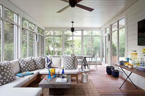 Pinterest & Contemporary Sunroom Decor | Modern sunroom style | Renovation Do-it ...