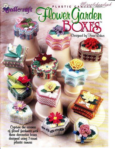Free Plastic Canvas Books | Free craft book download: Plastic Canvas Flower Garden Boxes