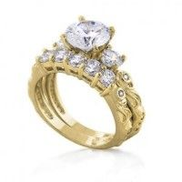 Love this! #engagementring #gold