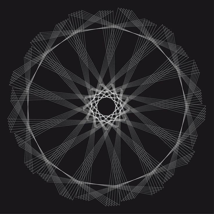 365 triangoli #1forday #graphic #blackandwhite #triangle #pattern #sphirograph # optical