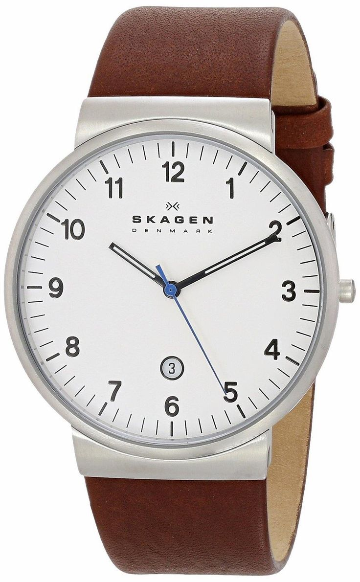 Superthin watch with a great scandinavian design. SKAGEN SKW6082 Ancher Saddle Leather Watch. Superb lines packed in a strong, slim case.. #SKAGEN  #KhaValeri www.pinterest.com...    kha_amz_SKAancher0305_v30
