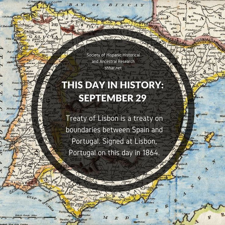 Treaty of Lisbon is a treaty on boundaries between Spain and Portugal.  Signed at Lisbon Portugal on this day in 1864.  #ancestry #history #genealogy #hispanic #hispanichistory #spain #mothercountry #spaniard #portugal #lisbon #treaty #treatyoflisbon #newspain #thisday #thisdayinhistory #shhar #somosprimos
