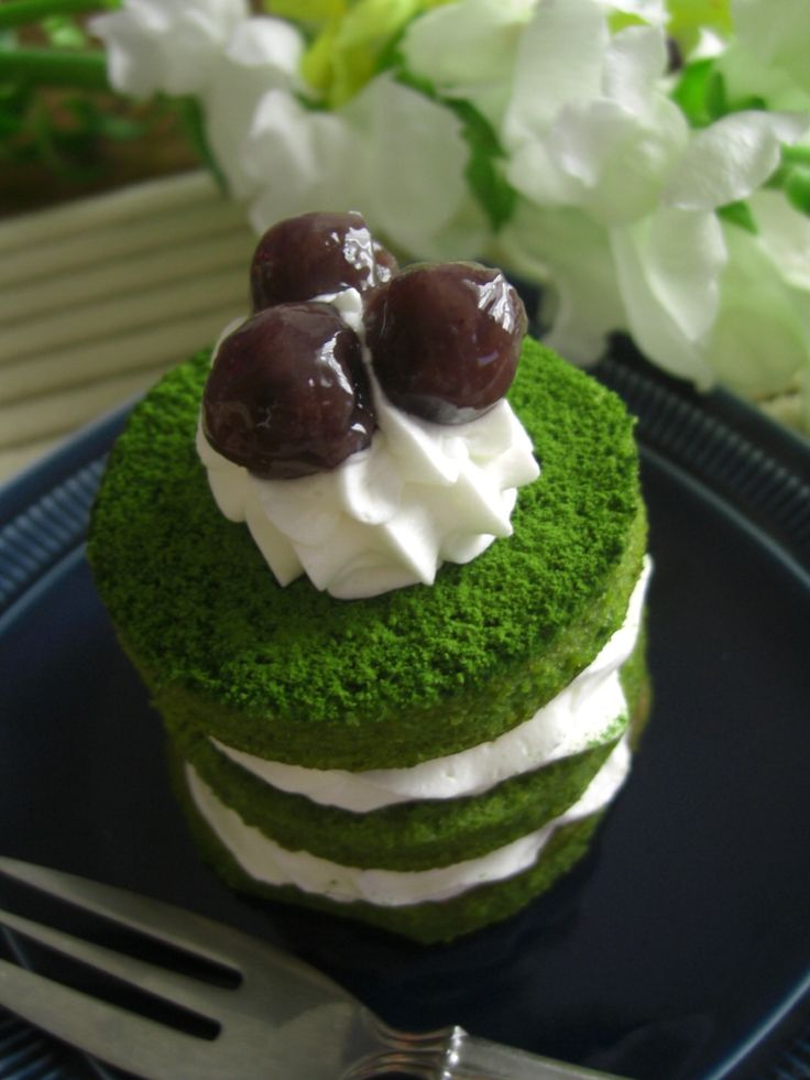 Japanese Matcha Green Tea Cake|抹茶ケーキ