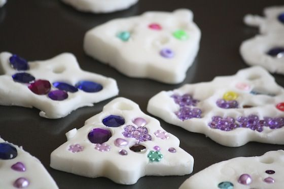 How to make baking soda/cornstarch ornaments 1 cup bicarbonate of soda (baking soda) 1/2 cup corn flour (corn starch) 3/4 cup of warm water