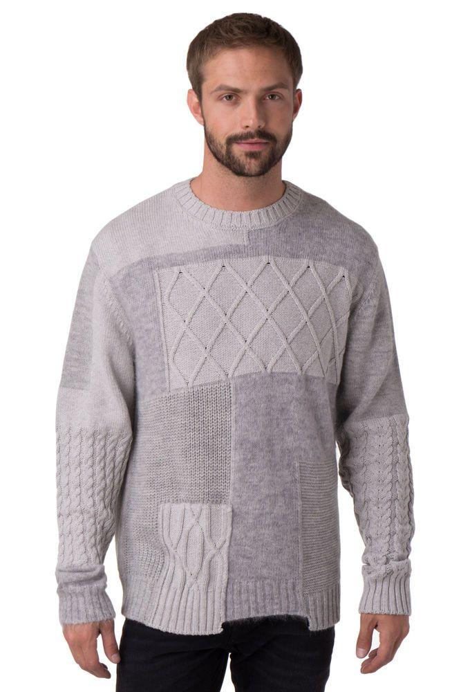 Striped mens alpaca sweater Wool Jumper Men Alpaca Wool Blend Crew Jumper