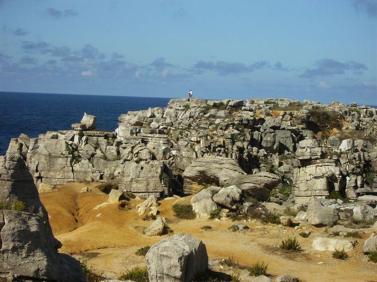 Campo de lapiás no Cabo Carvoeiro.