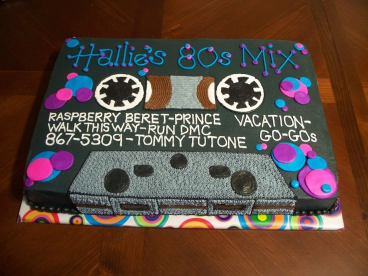 80s theme cake - Google Search