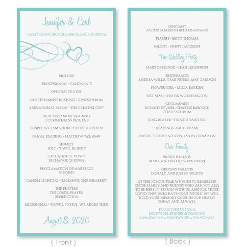 32 best Wedding Programs images on Pinterest Wedding program - Graduation Programs