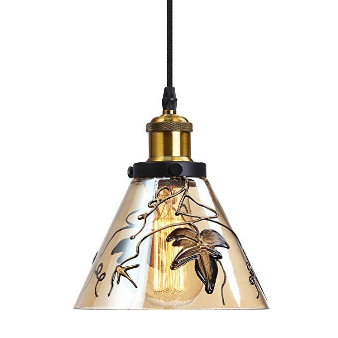 pendant lighting antique brass glass hanging lights industrial rh pinterest com
