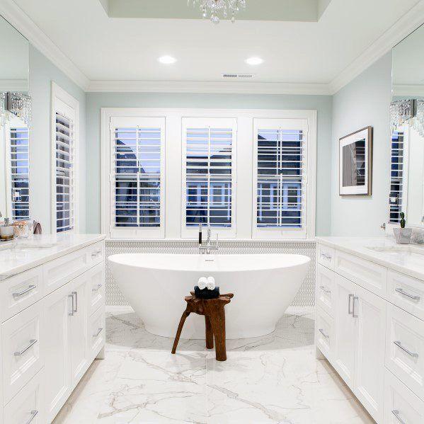 Top 60 Best White Bathroom Ideas Home Interior Designs White