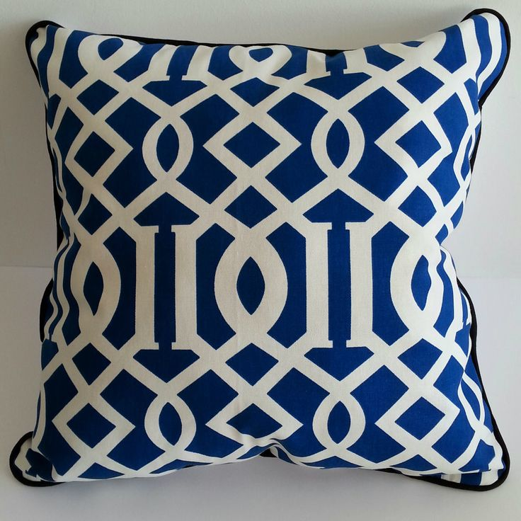 Midnight Blue Pillow by PaolaGpillows on Etsy