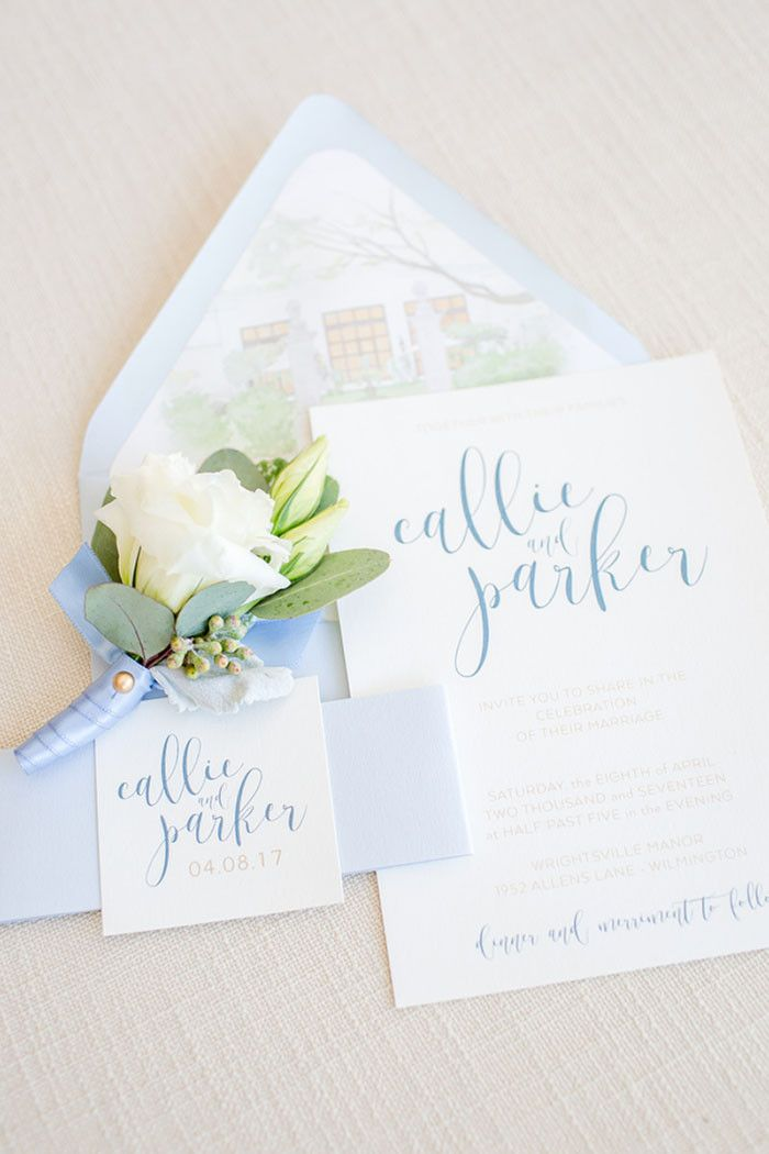 Fresh Spring Wedding Flowers in Blue and