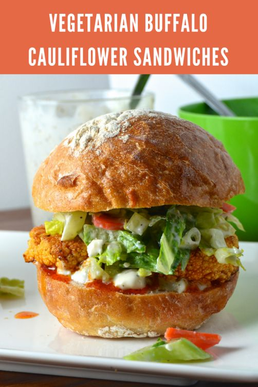 Living a healthy lifestyle is easy with recipes like this Buffalo Cauliflower Sandwich. {vegetarian, healthy, clean}