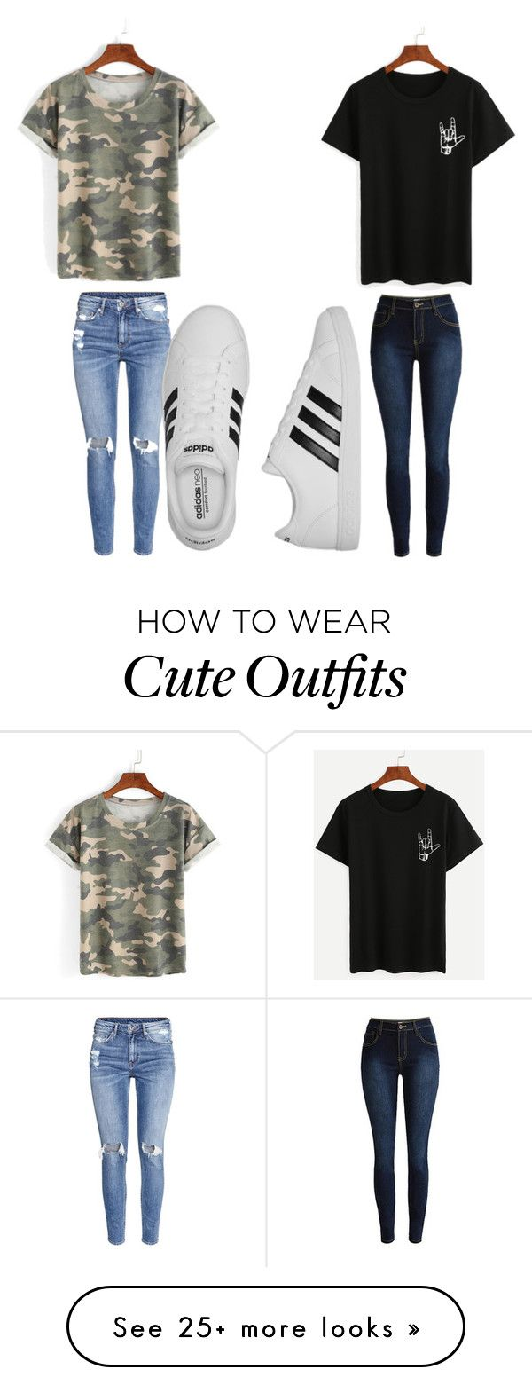 """Cute Outfits"" by mlg12082 on Polyvore featuring H&M and adidas"