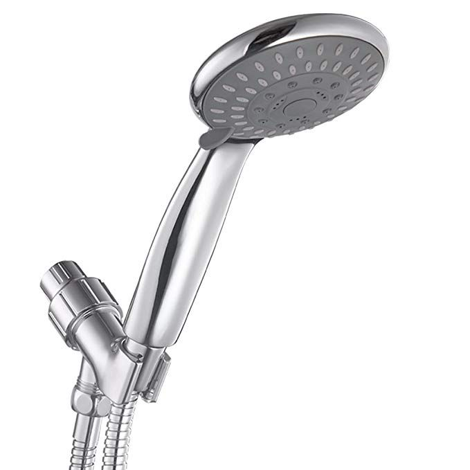 Hoimpro High Pressure 5 Spray Setting Handheld Shower Heads Pulse