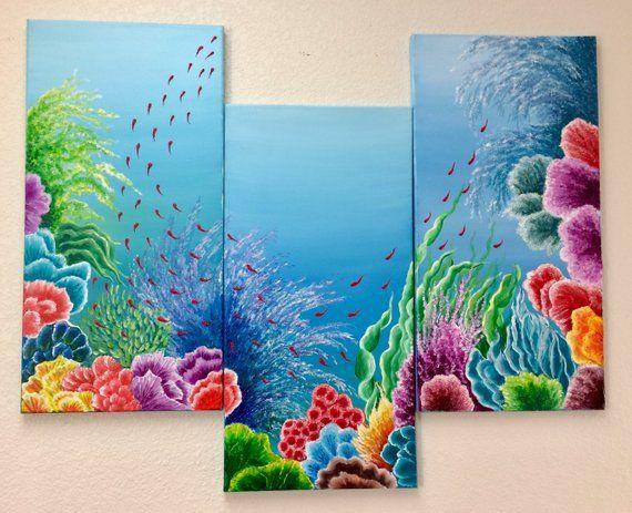 original acrylic painting abstract painting u201cunderwater garden rh pinterest com