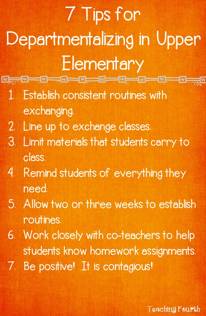 Teaching Fourth: Seven Tips for Departmentalizing in Upper Elementary