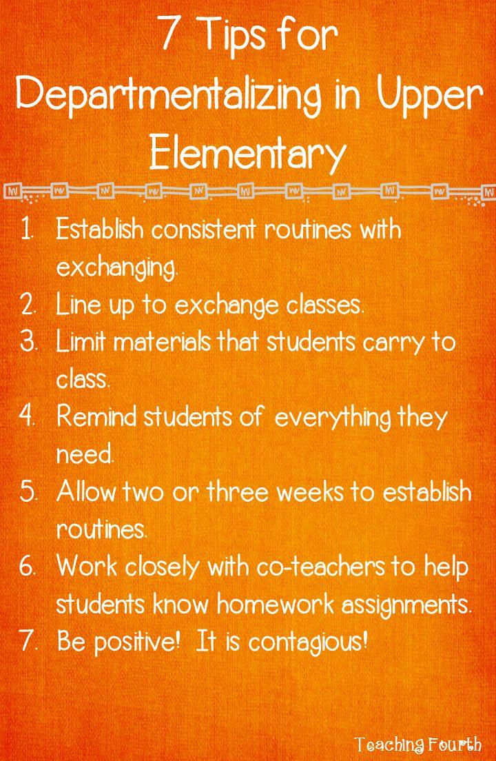 Teaching Fourth: Seven Tips for Departmentalizing in Upper Elementary