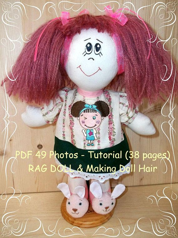 Doll Tutorial Instant Download PDF Cloth Doll Pattern Dress