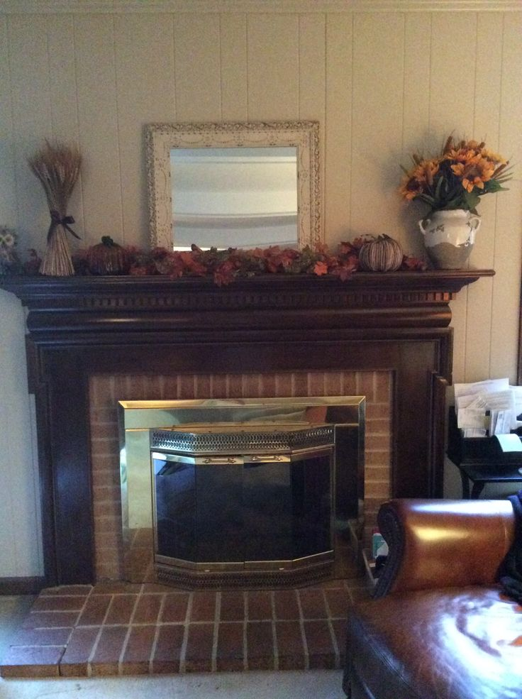 Want To Update Maybe Whitewashed Brick And Paint Fireplace Doors Black Home Decor Pinterest