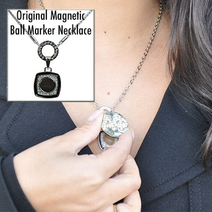64 best golf jewelry collection images on pinterest charm navikas original magnetic floating ball marker necklace wear your navika golf ball markers on your aloadofball Images