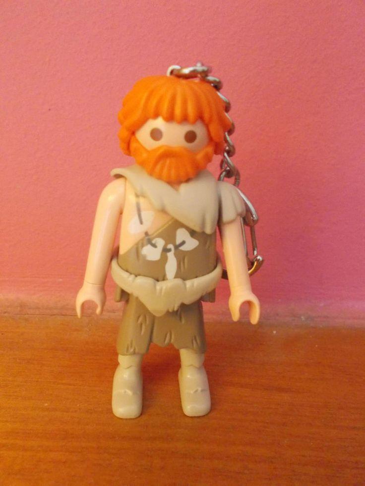 Vintage Lyra Playmobil Caveman/primitive with beard Keychain made in Greece