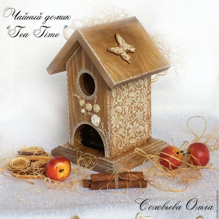 """Купить Чайный домик """"Tea time"""" - для кухни, кантри стиль, деревенский стиль, подарок, бежевый"""