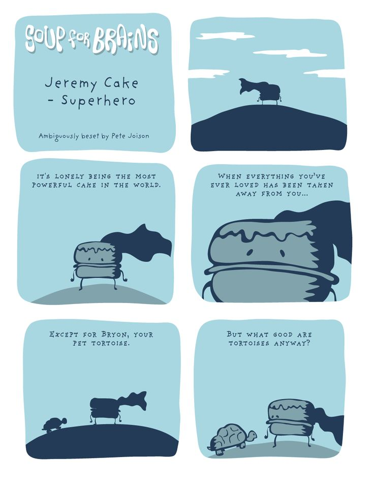 Soup for Brains - Jeremy Cake: Superhero  #weird #webcomic #humor