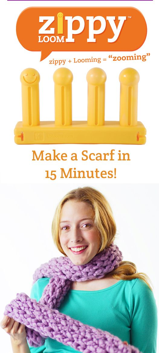 Zippy Loom: Make a scarf in just 15 minutes! #zooming