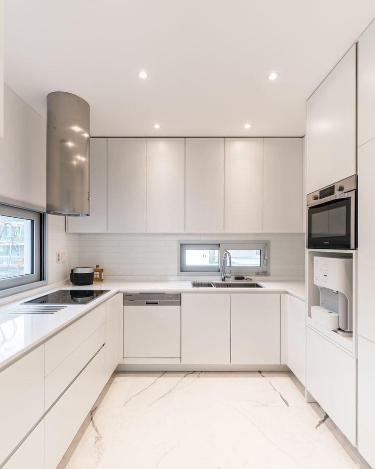 57 Elegant Modern White Kitchen Ideas For Excellent Home In 2020