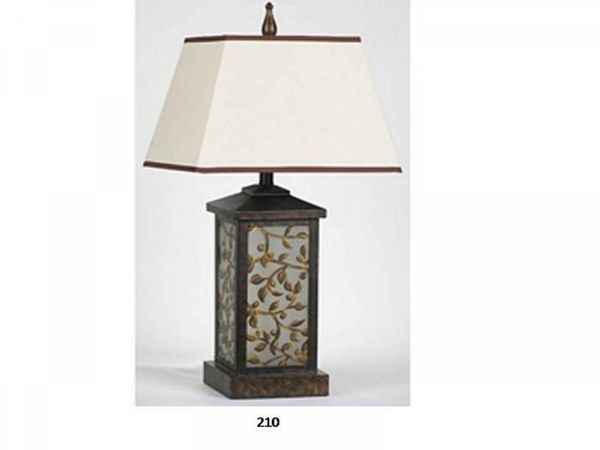 Brooklyn Lamps Glass & Metal W/ Night Lite Lamp