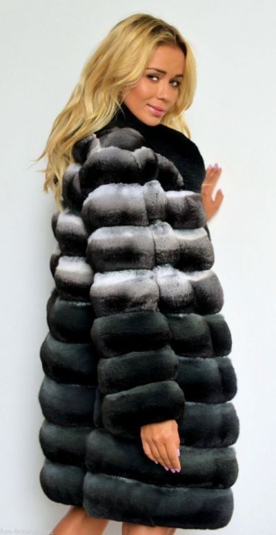 Degrade Chinchilla Fur Coat