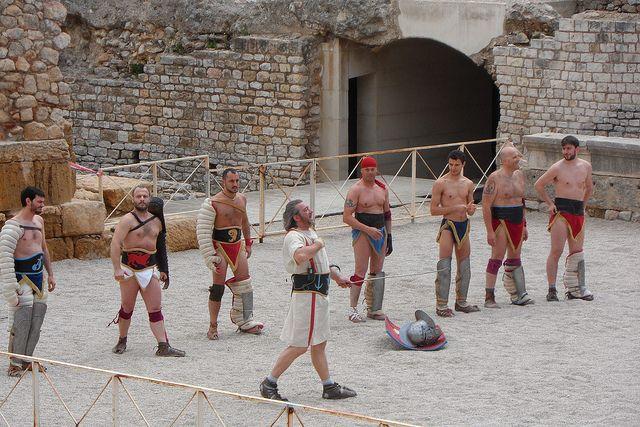 Watching the Gladiator Show in Tarragona's Roman Amphitheatre | Europe a la Carte Travel Blog: http://www.europealacarte.co.uk/blog/2013/07/24/gladiator-show-tarragona/
