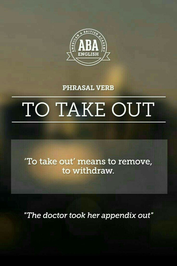 English phrasal verb with its meaning and
