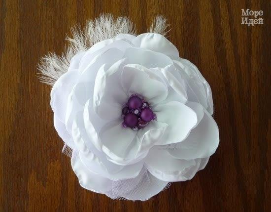Тканевый цветок. Мастер-класс - Бижутерия.Украшения