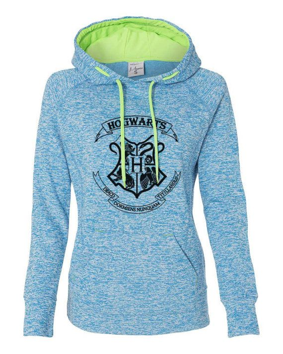 Harry Potter Hogwarts School crest emblem logo super soft hoodie sweatshirt kangaroo pockets ladies girls (s, m, l, xl, xxl)