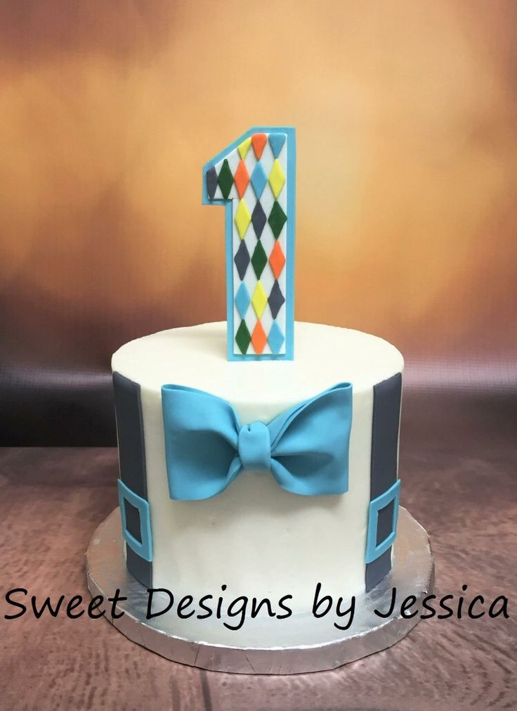 Bow Tie And Suspenders Smash Cake My Cakes 1st Bday