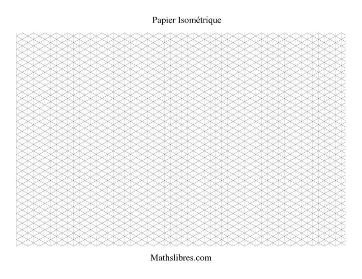 Papier isométrique -- Paysage (petit) #mathslibres