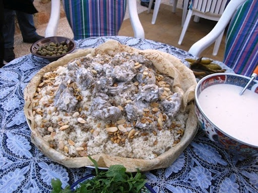 Jordan's national dish called Mansaf ... soooo good!!